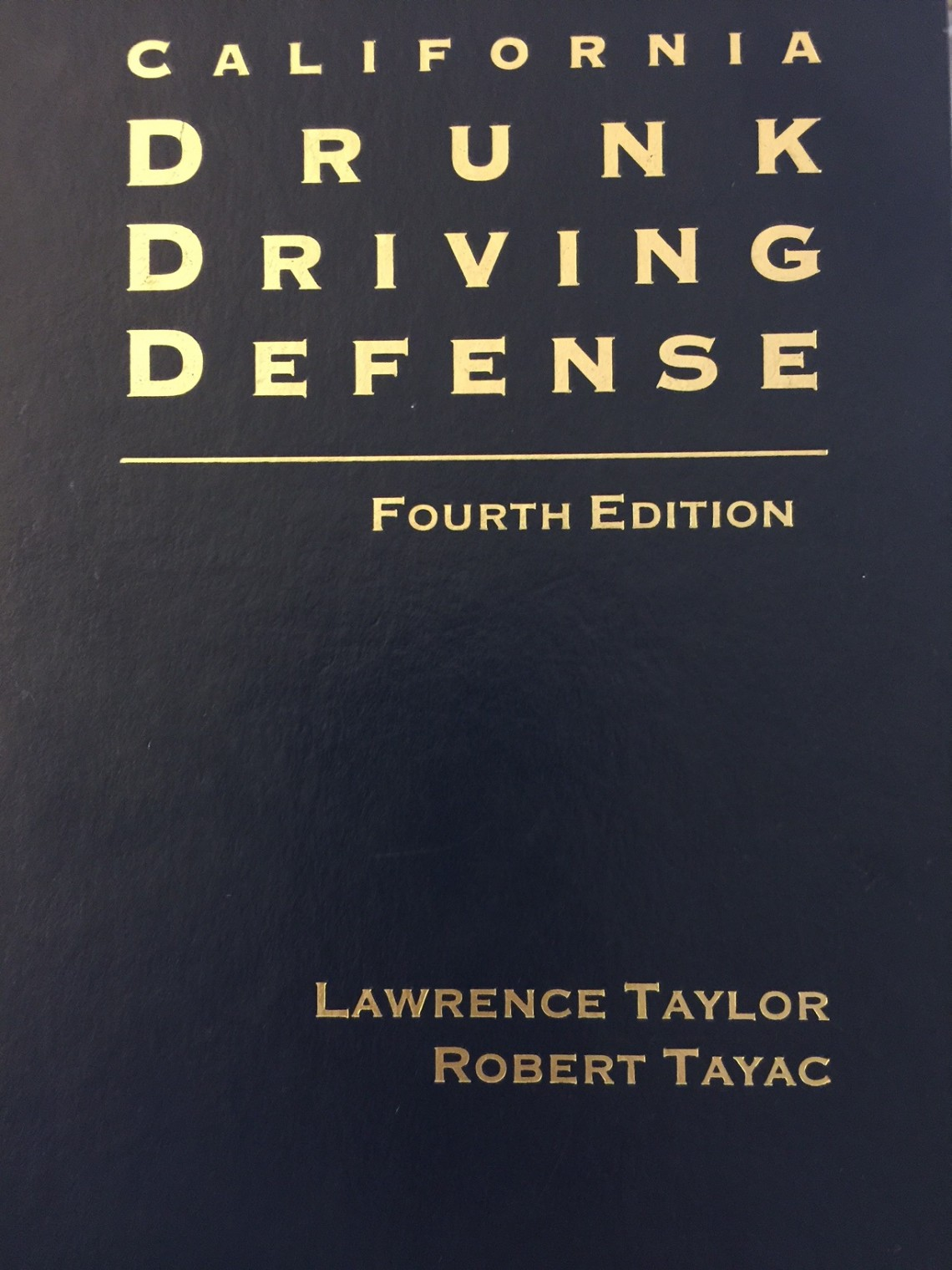 California Drunk Driving Defense is the premier DUI defense guide for California attorneys.  The book written by Lawrence Taylor and Robert Tayac address the DUI administrative hearing and the criminal case.